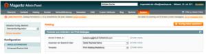Magento Referenz Konfiguration Katalogbestellungen